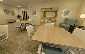 Eventide Jamestown Activities Room Virtual Tour
